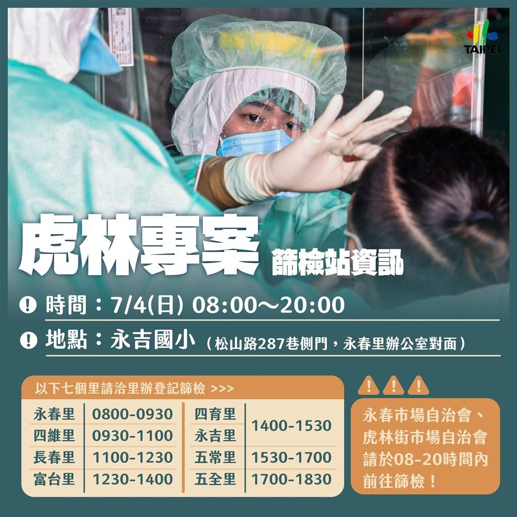 台北虎林街周邊13戶30例確診 4日啟動專案篩檢3千多人 意外引發基層抱怨