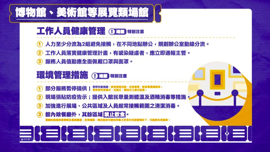 台灣博物館、電影院、劇組拍攝微解封!演員身體接觸須先簽同意書