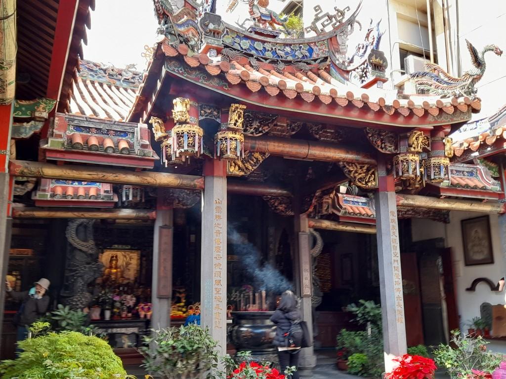 淡水龍山寺。(照片由Taiwan News / 林靜怡 拍攝)
