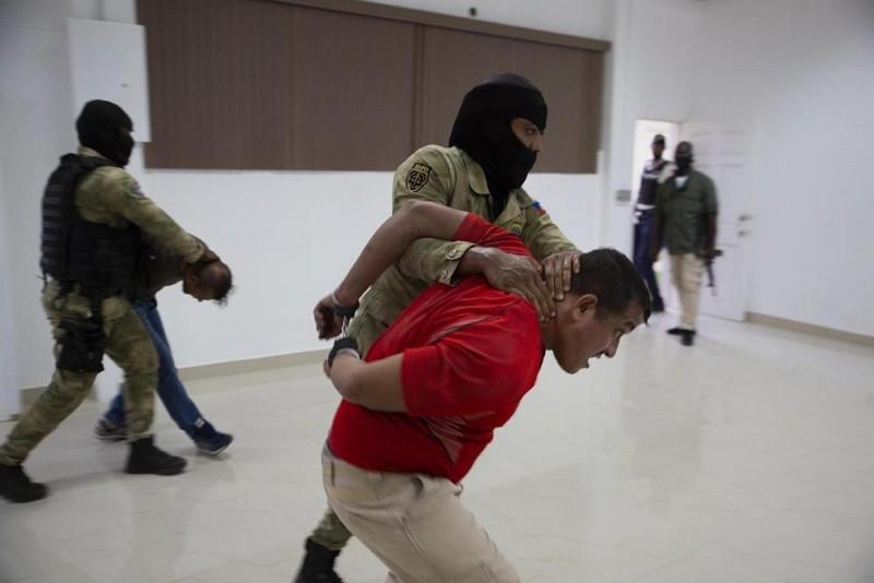 涉嫌殺害海地總統的嫌犯 (圖/AP)