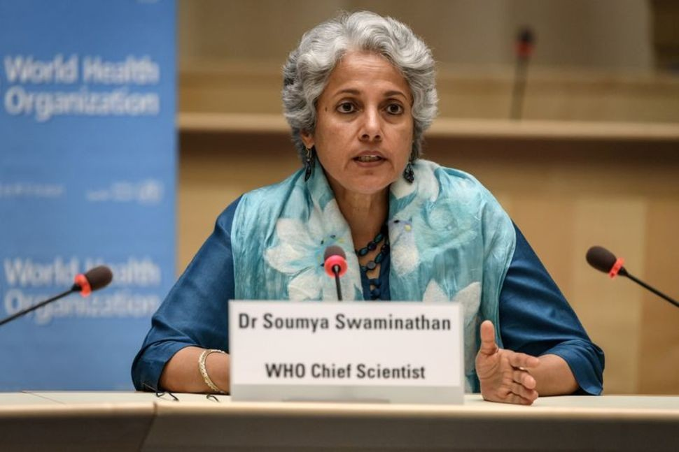 WHOChief Scientist Soumya Swaminathan attends a press conference organised by the Geneva Association of United Nations Correspondents. (Photo/RE...