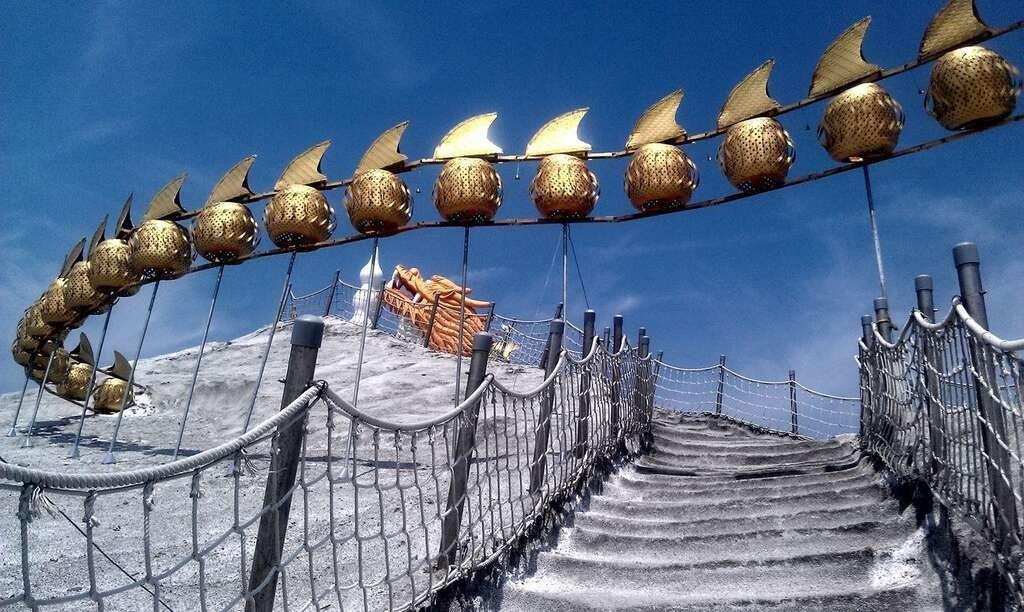 七股鹽山。(圖片翻攝自臺南旅遊網)