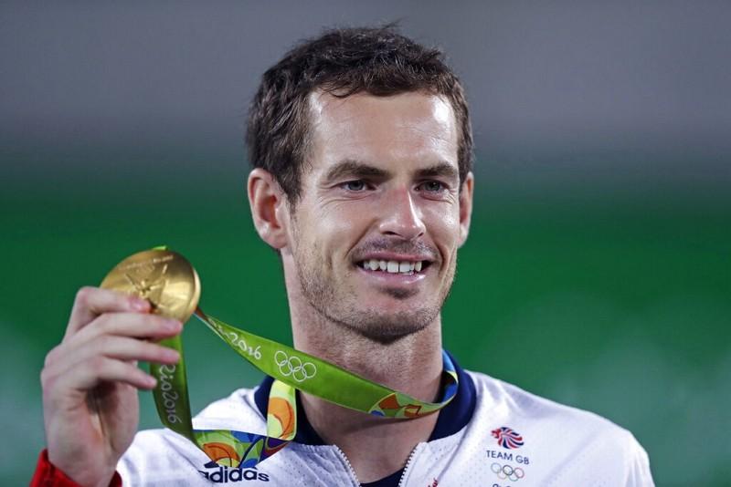 英國網球名將Andy Murray於2016年里約奧運奪金(圖/AP)