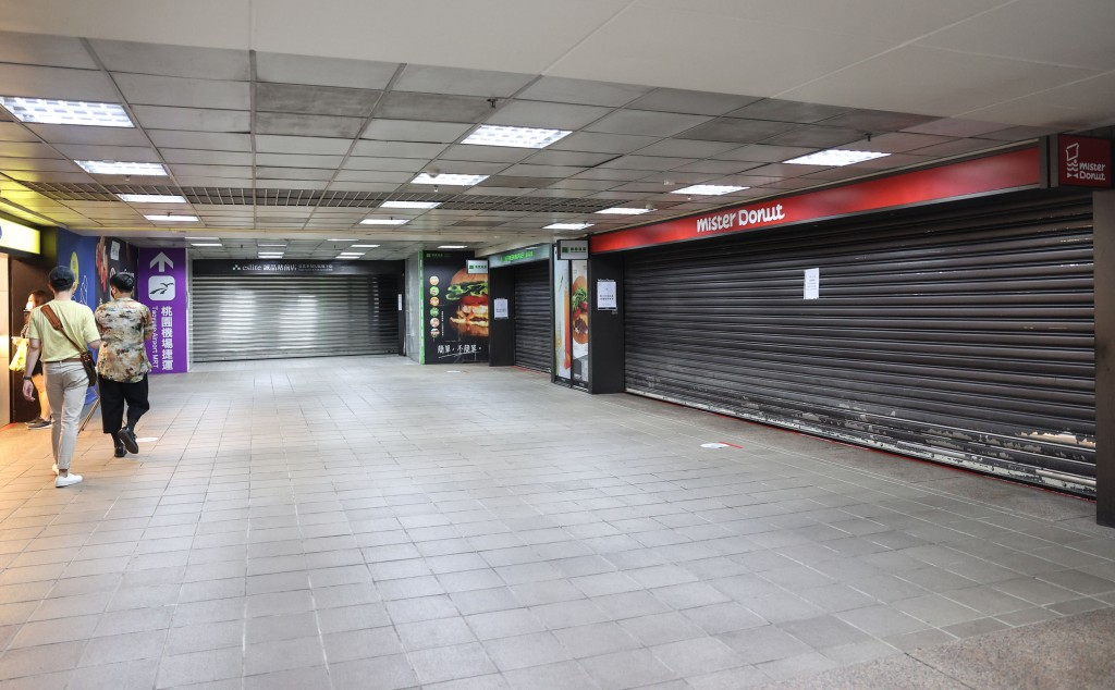 Taipei Railway Station's K area will remain closed until the end of the weekend.