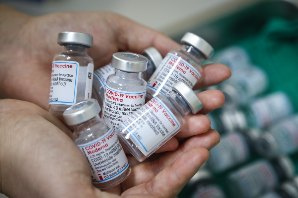 Patients suffering under the side effects of an AstraZeneca shot might receive a Moderna jab as their second dose.