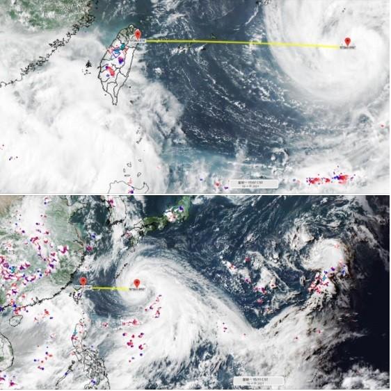 """這是颱風很外圍的水氣,可觀察環境的變化。(圖/<a href=""""https://www.facebook.com/weatherrisk"""" target=""""_blank"""">氣象達人彭啟明</a> )"""