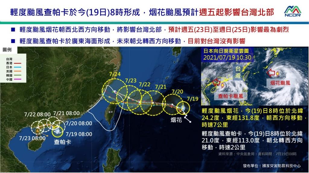 颱風「烟花」逐步逼近台灣•恐帶來豪雨 經濟部水利署整備防汛