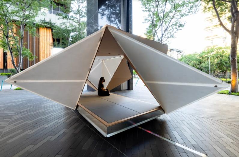 Kengo Kuma's exhibition features his landmarkdesigns. (Jut Art Museumphoto)