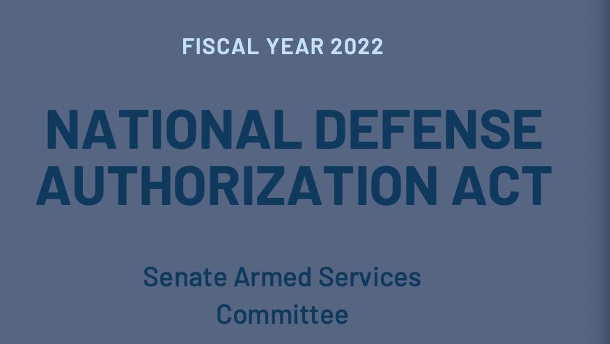 美國23日通過2022財政年度國防授權法案,其中呼籲提升台灣防衛能力並維持美軍恫嚇中國武力犯台的能力。(圖/翻攝自美國參議院軍事委員會)