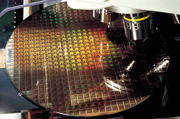 An 8-inch chip manufacturing process at TSMC foundry. (TSMC photo)