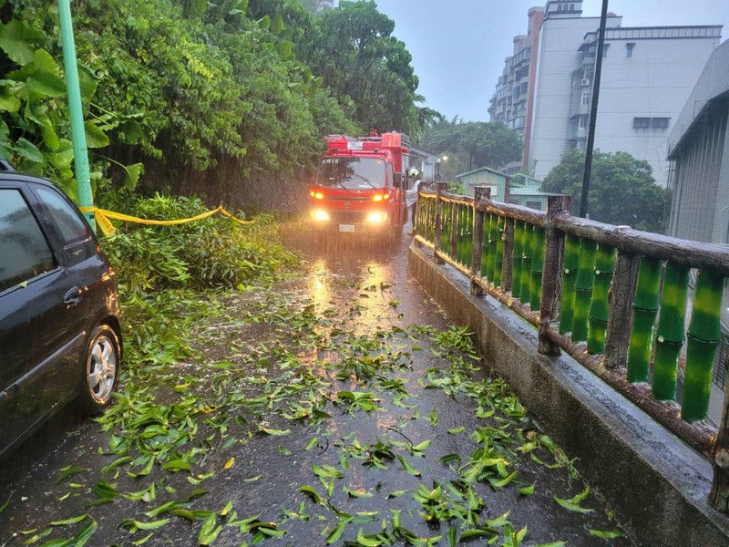 Taiwan reported numerous roads blocked in the wake of Typhoon In-Fa Saturday.