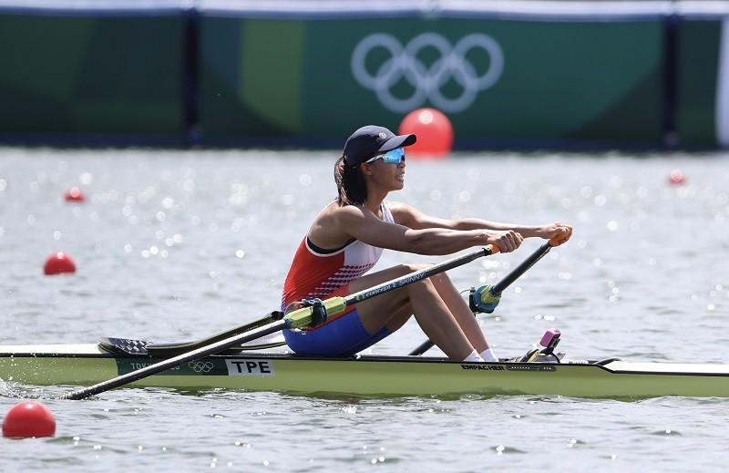 東京奧運23日上午進行划船分組預賽,中華隊黃義婷在女子單人雙槳項目以8分4秒59排名第4,24日敗部復活,晉級24強。(圖/中央社)