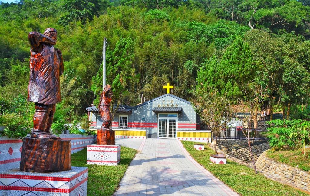 象鼻部落信仰中心「露德聖母堂」。(照片由水土保持局提供)