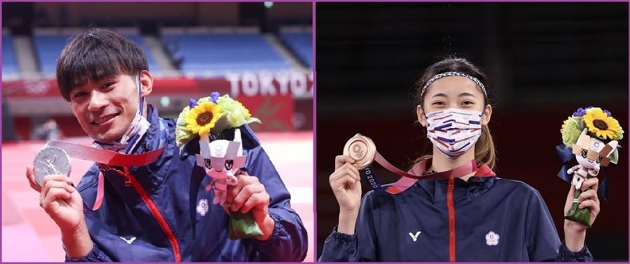 圖左為中華隊選手楊勇緯, 右為羅嘉翎 (原始圖片: 中央社/TN後製合成)