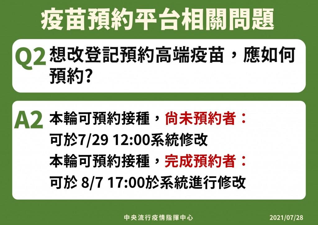 【最新圖解】唐鳳「疫苗施打意願登記預約系統」啟用 台灣指揮官陳時中: 收到1922通知•才可進行預約