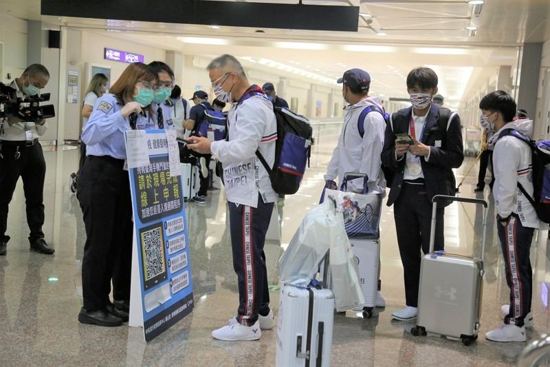 Taiwanese athletes returnfrom Tokyo Olympics.(Sports Administration photo)