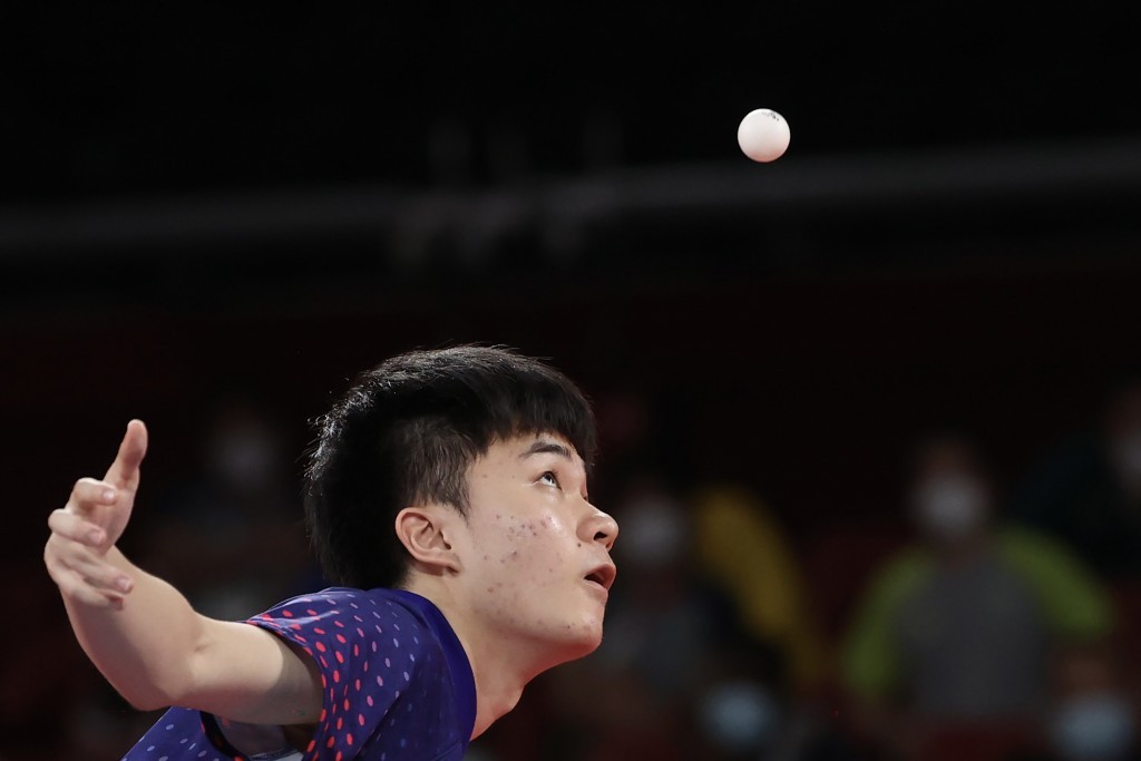 Taiwan's Lin Yun-jumedaled in mixed doubles and is still in men's team competition.