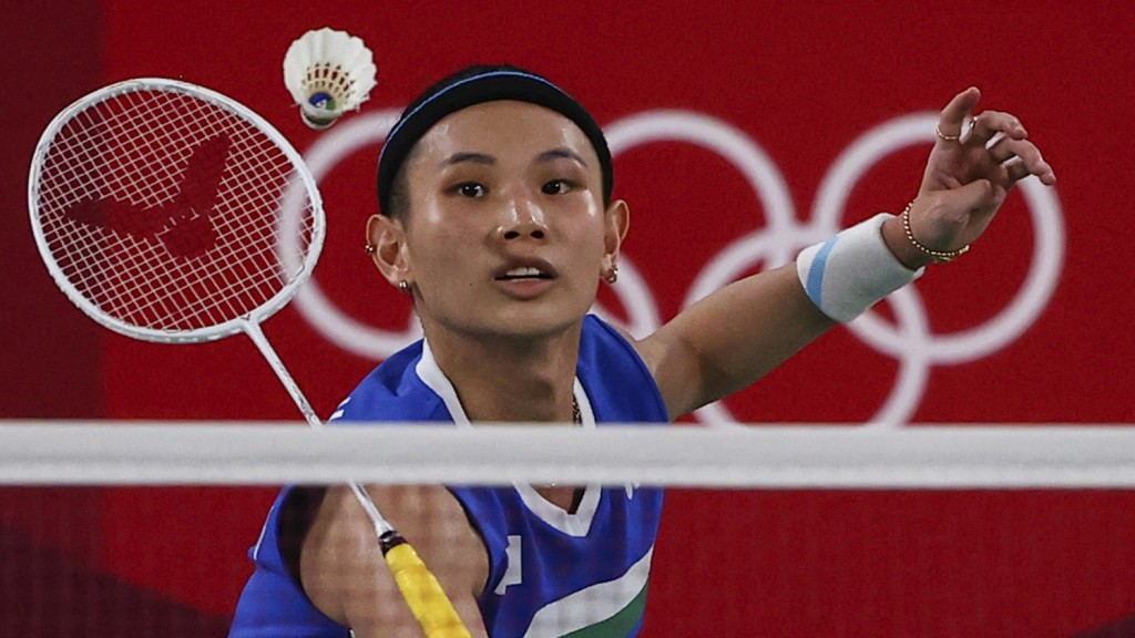 Tai Tzu-Ying of Taiwan in action during the match against China'sChen Yufei. (Reuters photo)