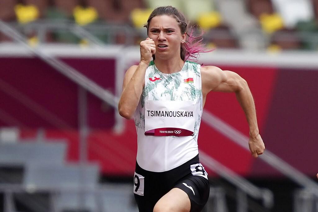 白俄羅斯短跑項目女運動員克里斯西納·齊瑪諾斯卡婭(美聯社圖片)