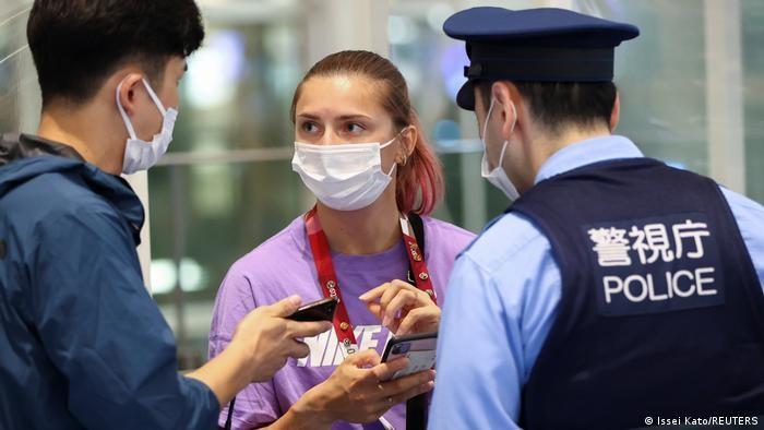 白俄羅斯參加奧運短跑選手齊馬諾斯卡雅(Krystsina Tsimanouskaya)即將前往波蘭受政治庇護。(圖/路透社)
