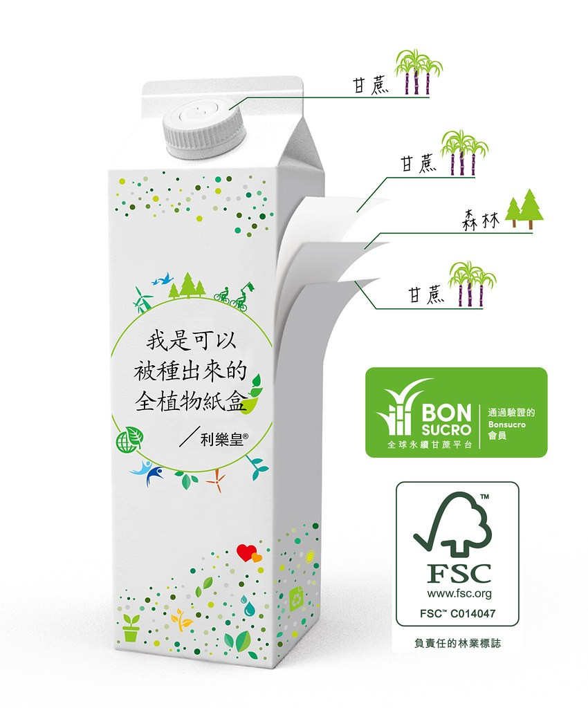 台灣第一款全植物包裝盒,由利樂和義美公司攜手合作上市。 (圖/利樂台灣公司提供)