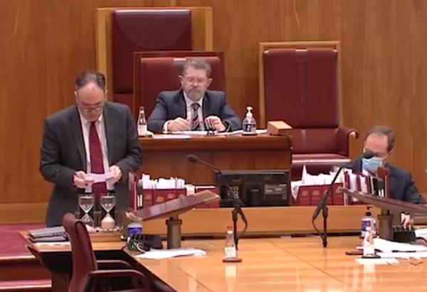 Kimberley Kitching's bill to introduce Magnitsky-like sanctions introduced in Australian Senate. (Twitter screenshot)