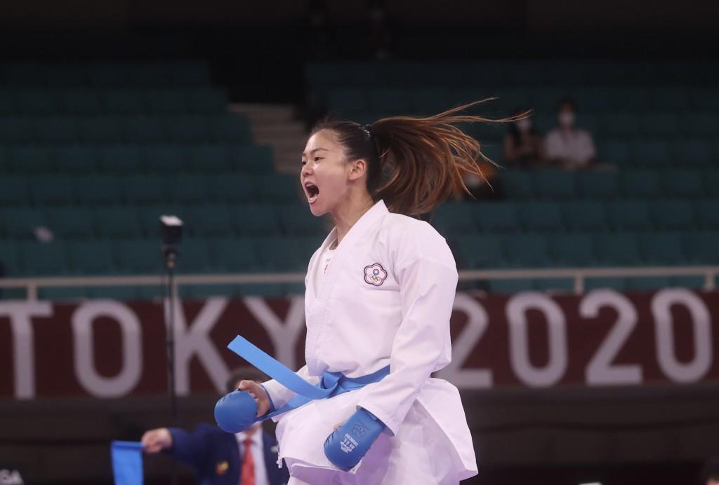 中華代表隊空手道女將文姿云為台灣奪下東奧第12面獎牌。