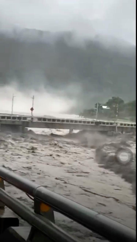 寶來1號橋已暫時封閉 (陳其邁臉書)