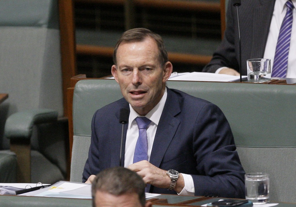 澳洲前總理艾波特(Tony Abbott)投書媒體稱中國在全球供應鏈中地位可被印度完美取代。(圖/美聯社)