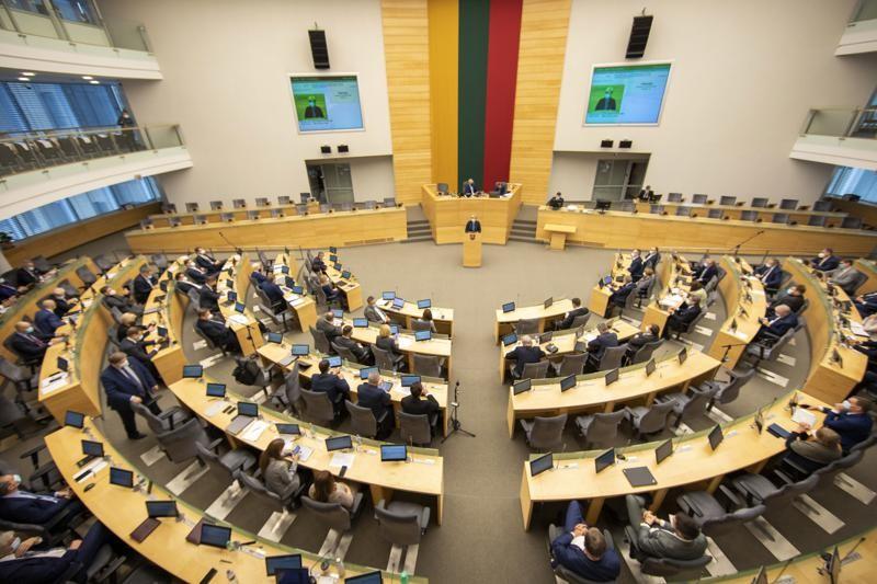 Lithuania's parliament.