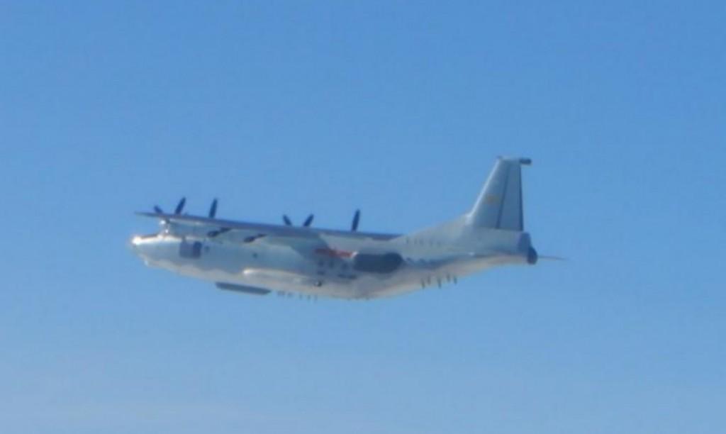 Chinese Y-8 ELINT variant. (MND photo)