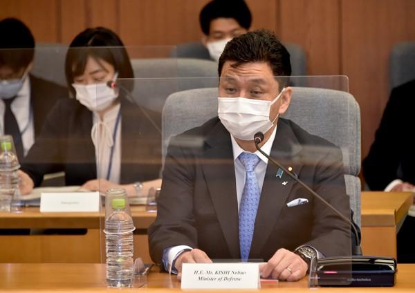 Japanese Defense Minister Kishi Nobuo.