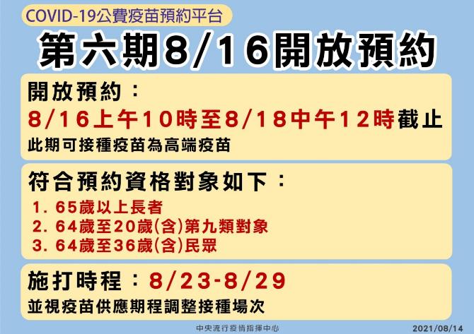台灣高端疫苗即將開打!8/16開放預約接種 36歲以上都可登記