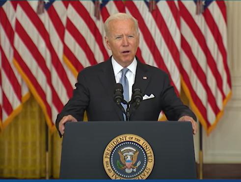 拜登今(17)日於白宮發表談話,力陳撤軍阿富汗的勢在必行。(圖 / 翻攝自The White House YouTube)