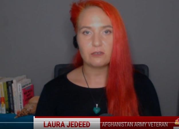 """兩次派駐阿富汗的美國退伍軍人、現職記者傑迪德(Laura Jedeed)指出美國自阿富汗撤軍是正確選擇。(圖/ 翻攝自<a href=""""h..."""