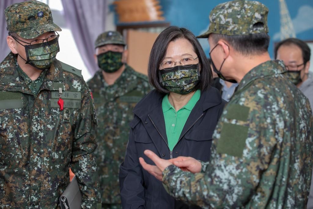 總統蔡英文談伊拉克動盪局勢下的台灣(圖/蔡英文臉書)