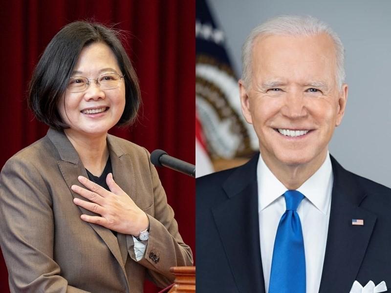 Taiwan President Tsai Ing-wen, and U.S. President Joe Biden. (Facebook, Tsaiingwen and POTUS photos)