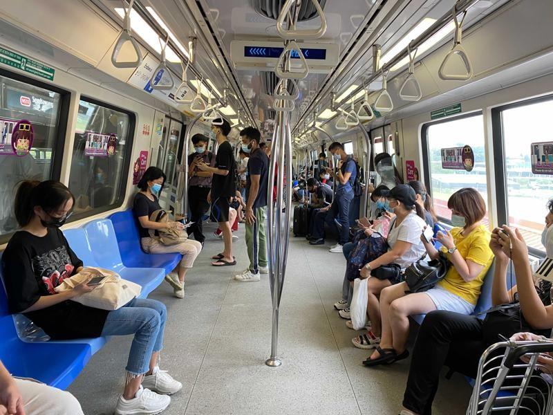 新加坡地鐵(圖/AP)
