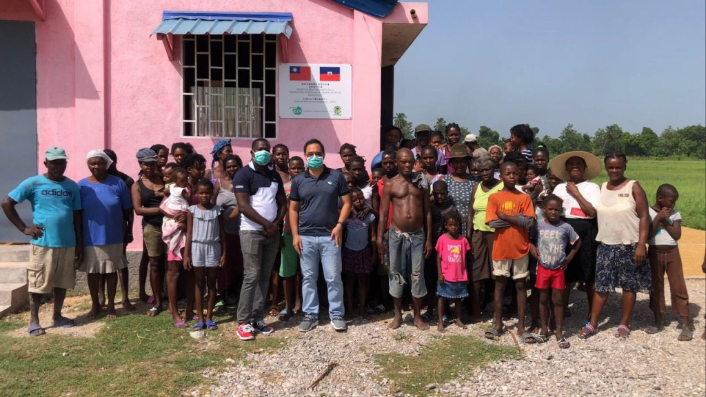 Taiwan-funded agricultural service centers in Haiti now shelter earthquake survivors (Twitter, Taiwanese Embassy in Haiti photo).