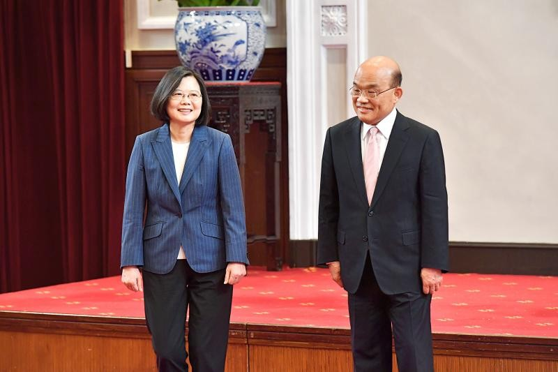 President Tsai Ing-wen and Premier Su Tseng-chang.
