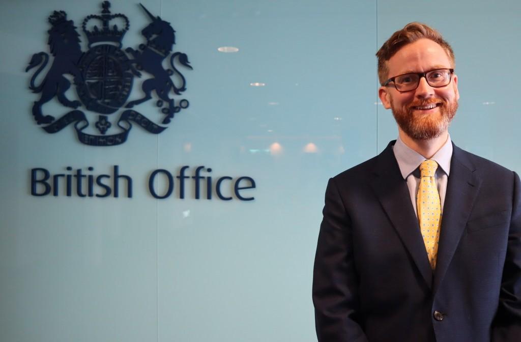 U.K. deputy representative Tom Burn. (Facebook, British Office Taipei photo).