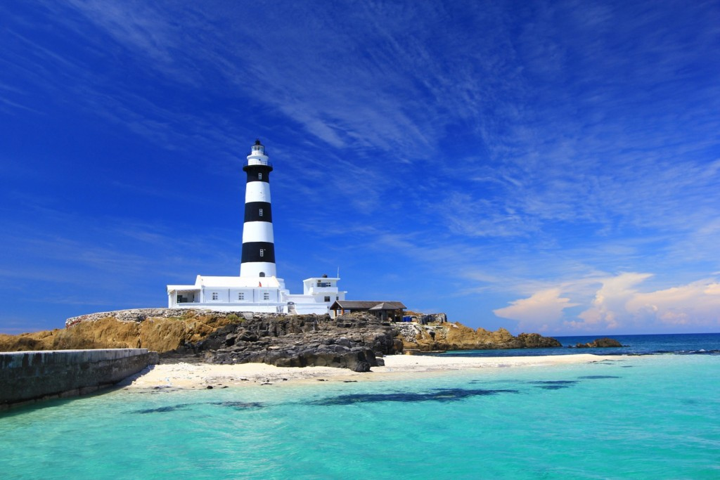 A lighthouse in Penghu, one of the areas likely to benefit from government travel vouchers.
