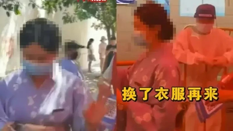 Chinese kick woman out of PCR test center for wearing kimono