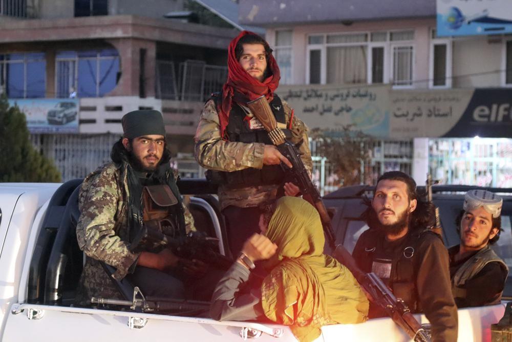 Taliban fighters on patrol in Kabul.
