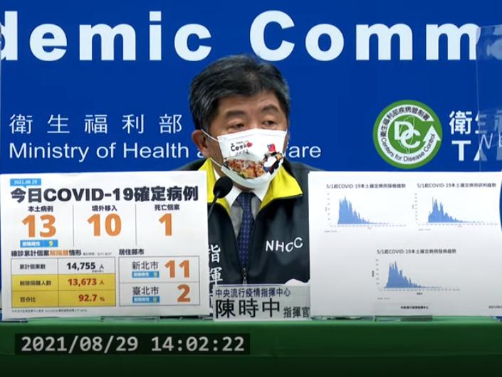 台灣今(29)日新增23例新冠肺炎確診(圖擷取自直播記者會)