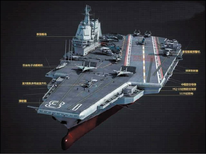 Illustration of Type 003 aircraft carrier. (Weibo image)