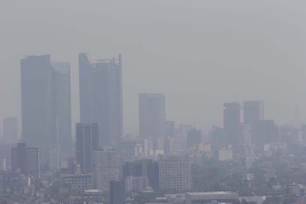 Smog in Mexico City last April.