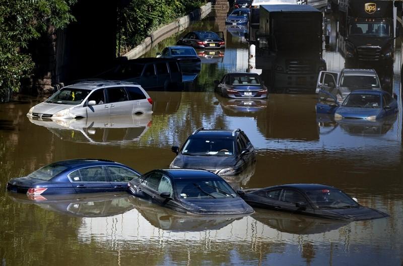 紐約淹水(圖/AP)