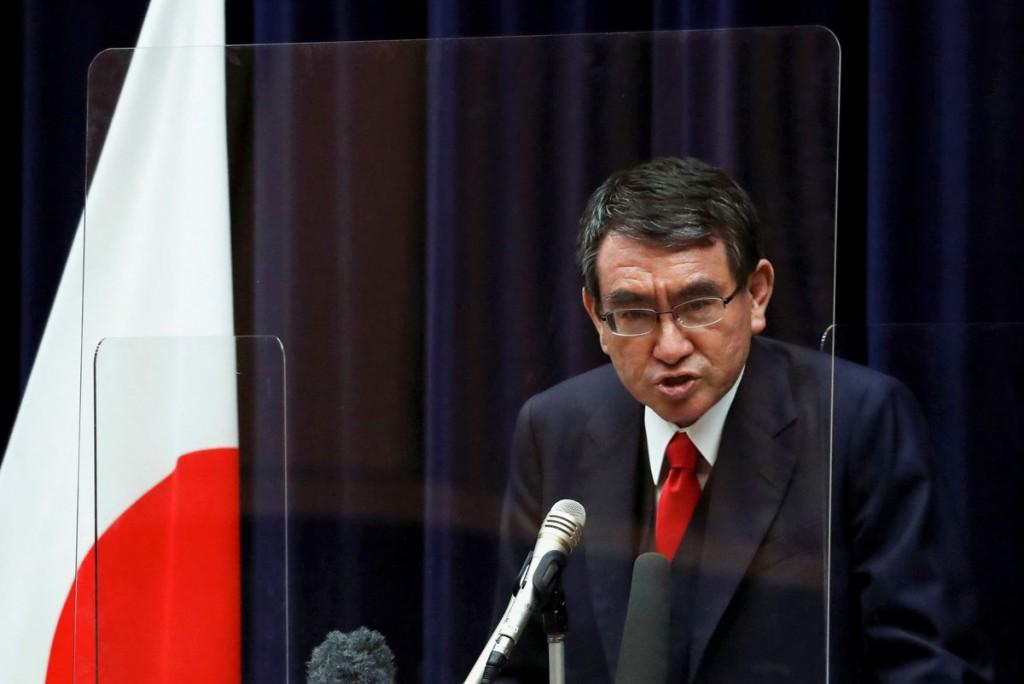 Japan's vaccination programme chief Taro Kono. (REUTERS/Issei Kato/File Photo)
