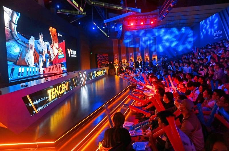2020年10月英雄聯盟世界大賽在上海舉辦(圖/AP)